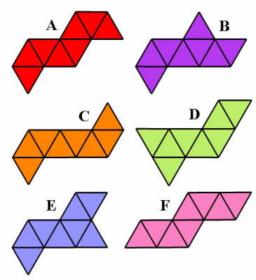 Which of the figures can not be folded into an Octahedron?