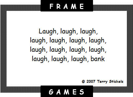 SIMPLEVIEWER Click next for answer. Frame Games by Terry Stickels ...